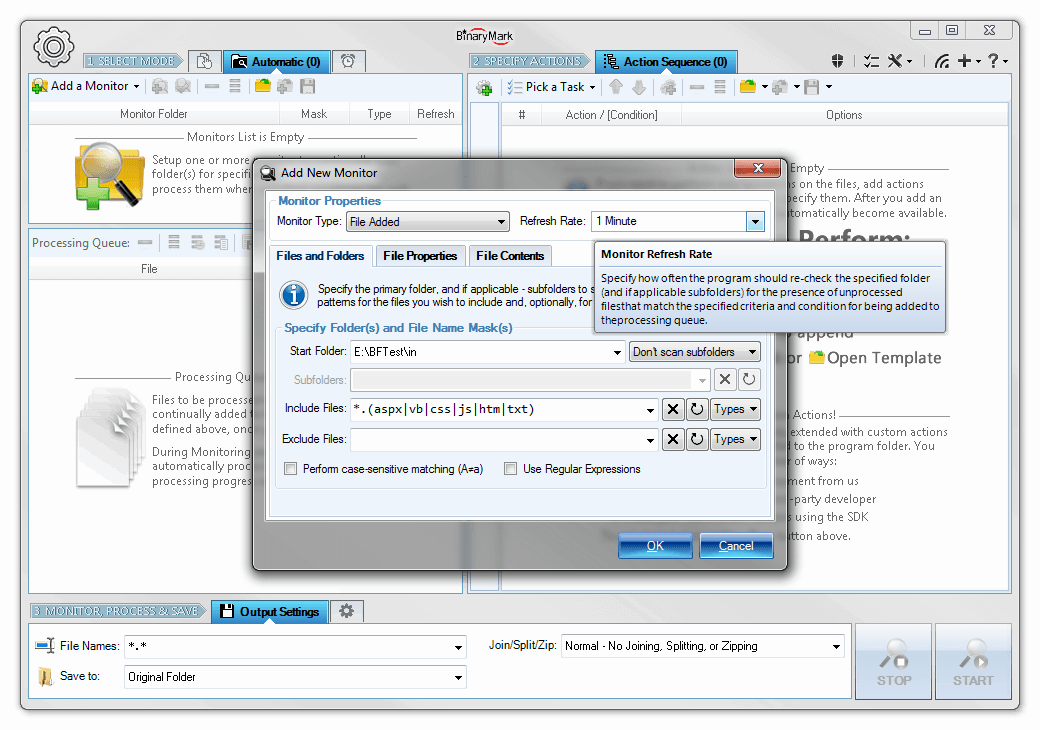 Batch Encoding Converter, Development Software, Development Tools Software Screenshot