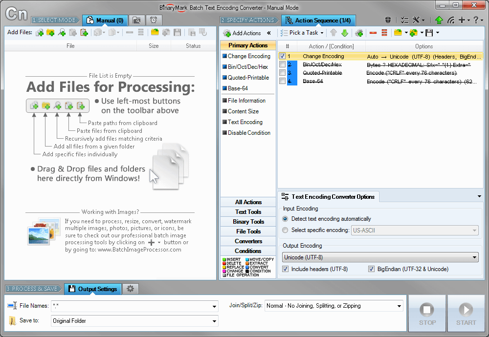 Batch Encoding Converter Screenshot