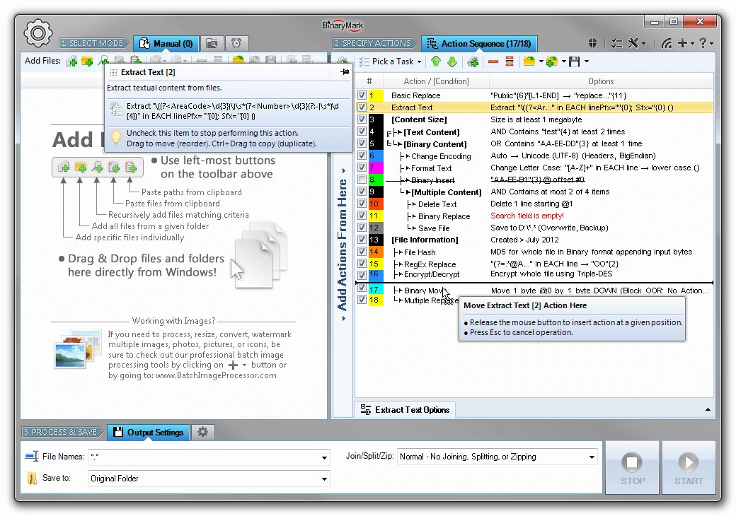 Batch Hex Editor, Development Software, Development Tools Software Screenshot