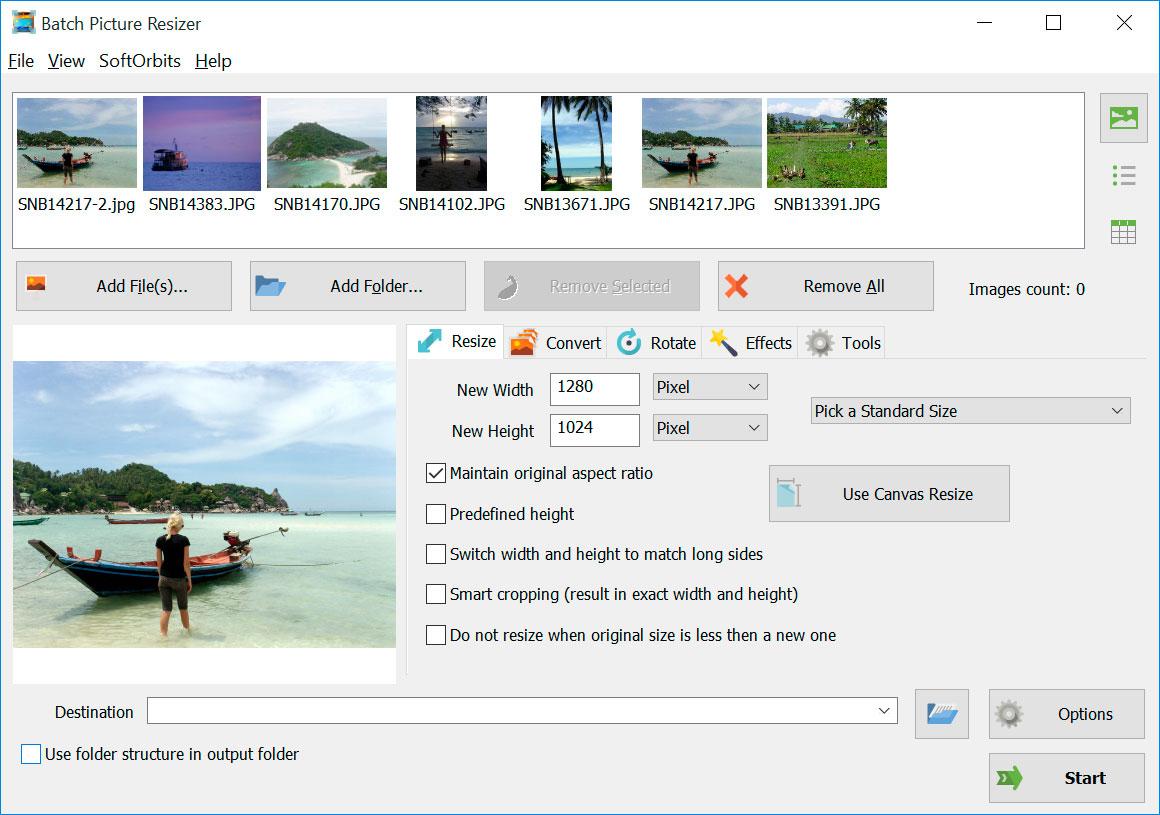 Batch Picture Resizer Screenshot