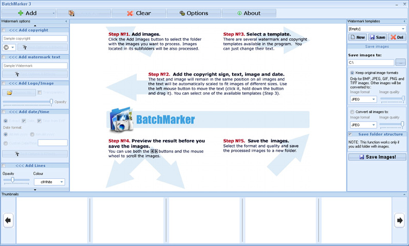 BatchMarker Screenshot
