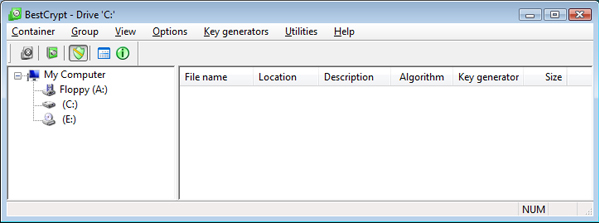 BestCrypt Container Encryption for Windows Screenshot