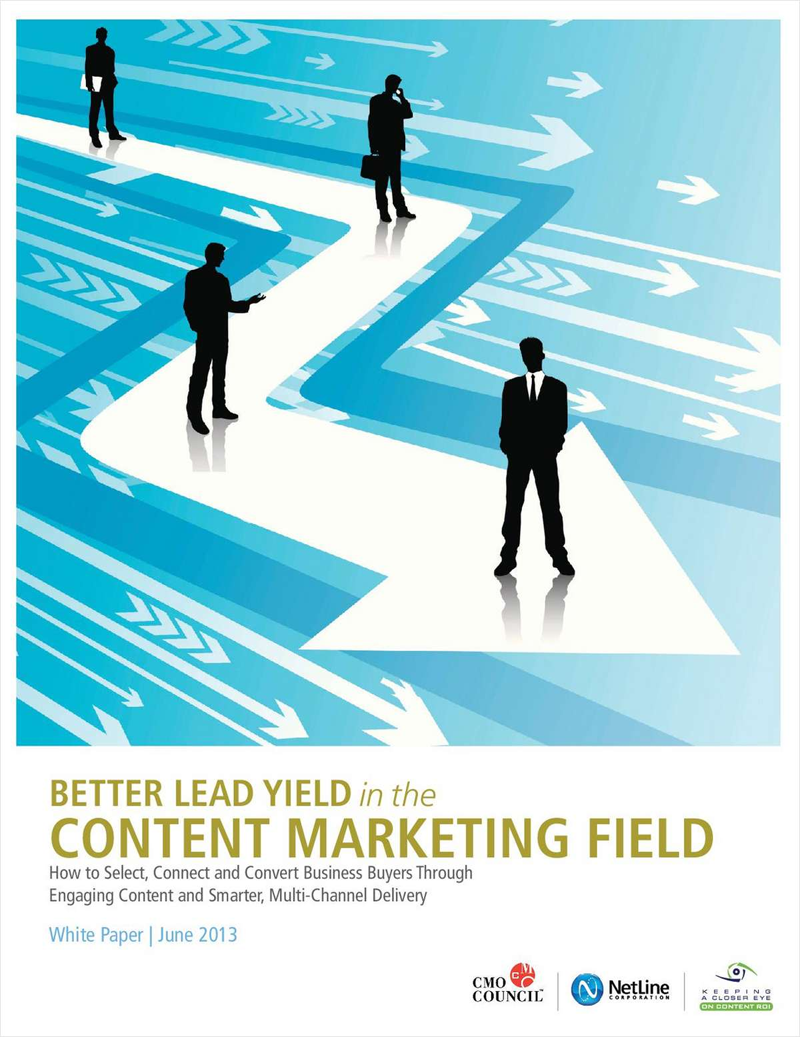 Better Lead Yield in the Content Marketing Field Screenshot