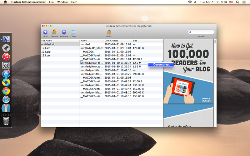 BetterUnarchiver for Mac Screenshot