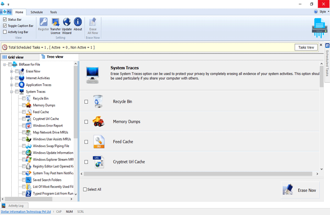 BitRaser For File, Security Software Screenshot