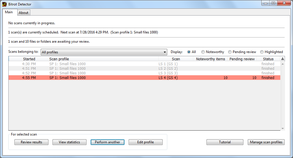 Bitrot Detector, Software Utilities Screenshot