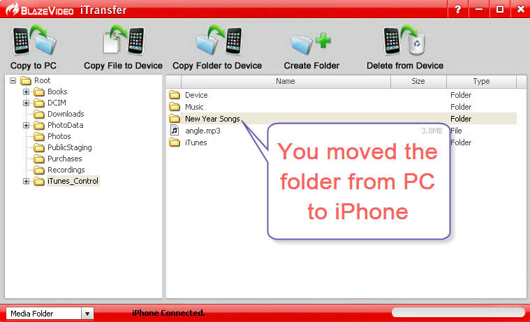 Audio Software, BlazeVideo iTransfer Screenshot