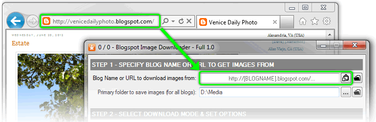 Blogspot & Tumblr Image Downloader Screenshot