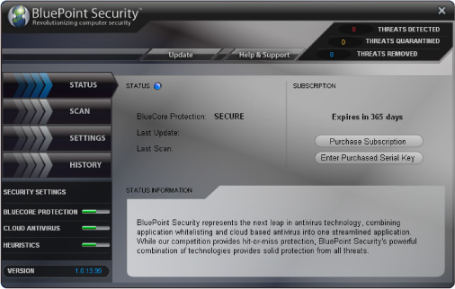 BluePoint Security 2010 Screenshot
