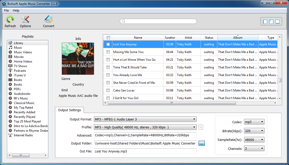 Boilsoft Apple Music Converter for Mac/Windows Screenshot