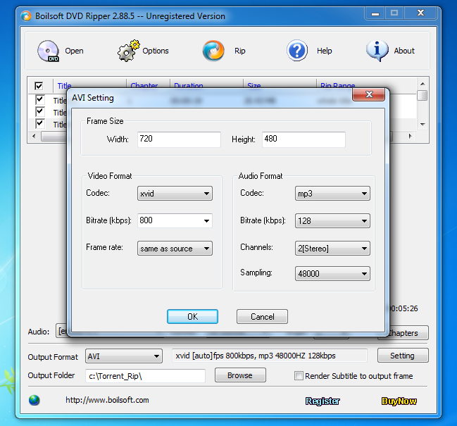DVD Ripper Software Screenshot