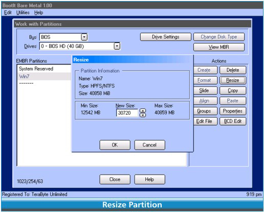 BootIt Bare Metal, Software Utilities Screenshot