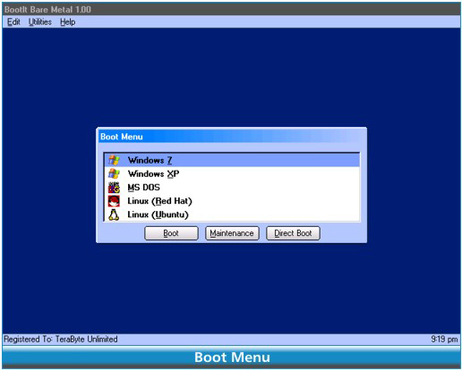 BootIt Bare Metal, Hard Drive Software Screenshot