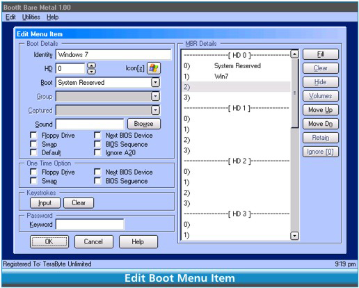 BootIt Bare Metal Screenshot