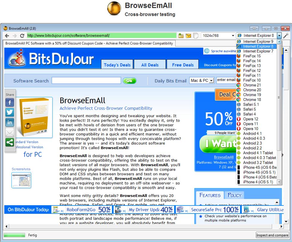 BrowseEmAll Screenshot