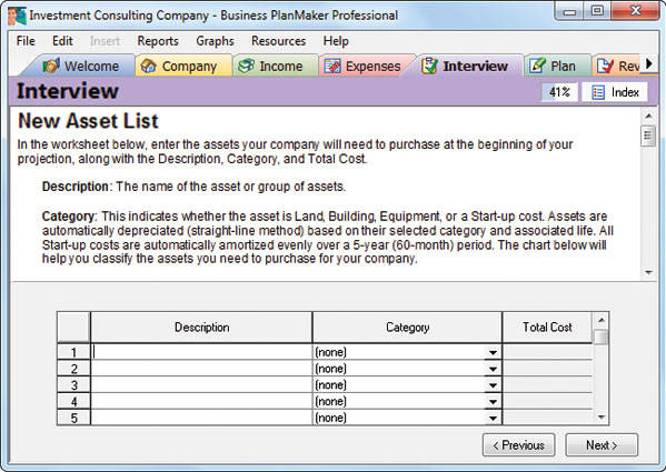 Business Management Software, Business PlanMaker Professional 12 Screenshot