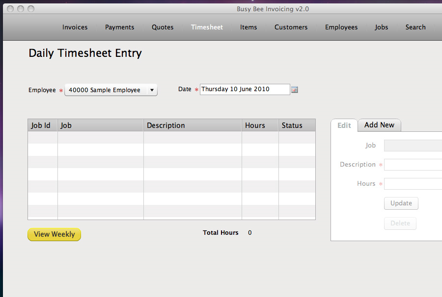 Busy Bee Invoicing, Business & Finance Software Screenshot