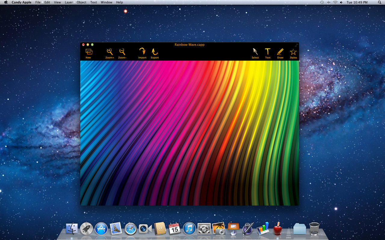 Candy Apple, Graphic Design Software Screenshot