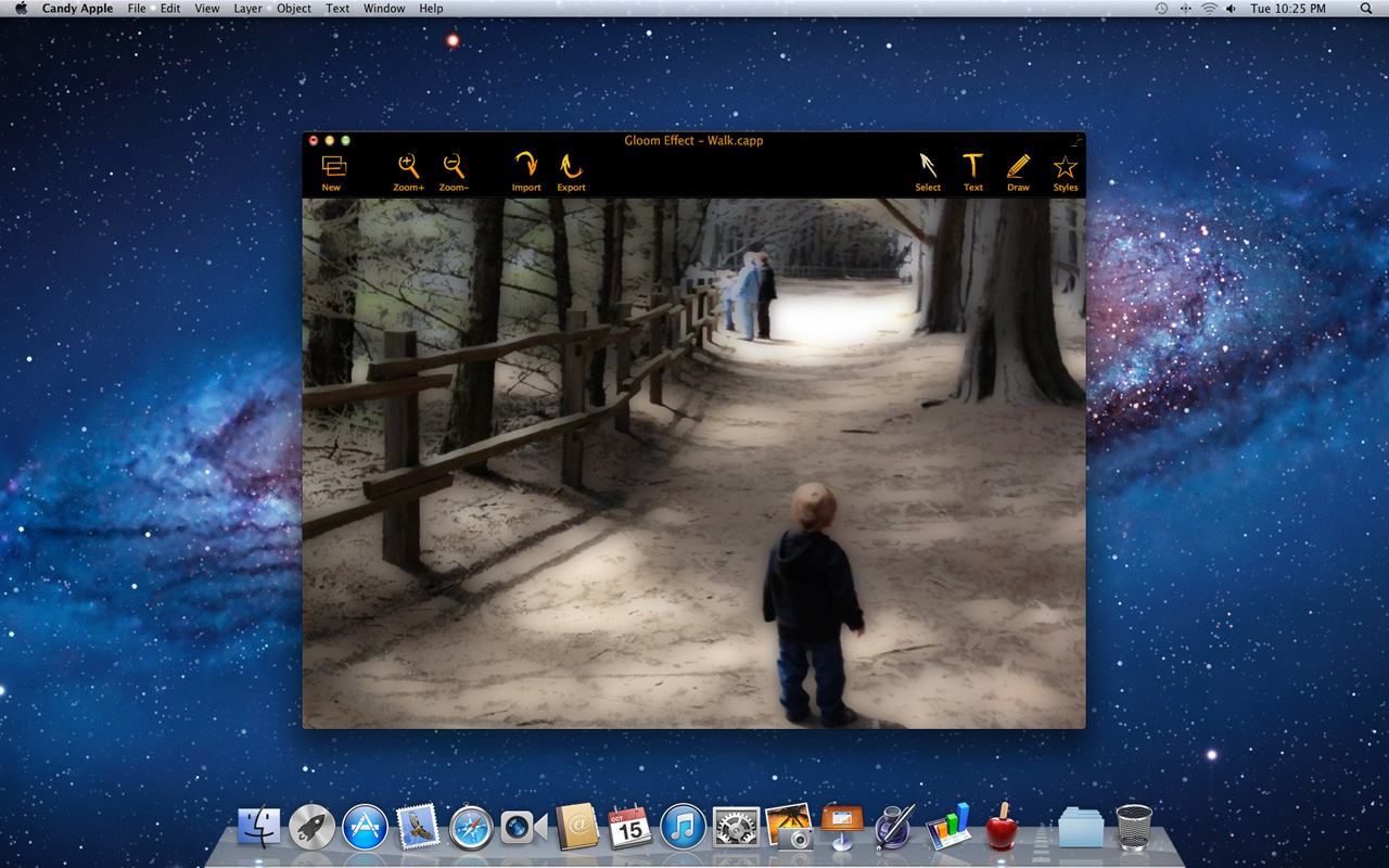 Graphic Design Software, Candy Apple Screenshot