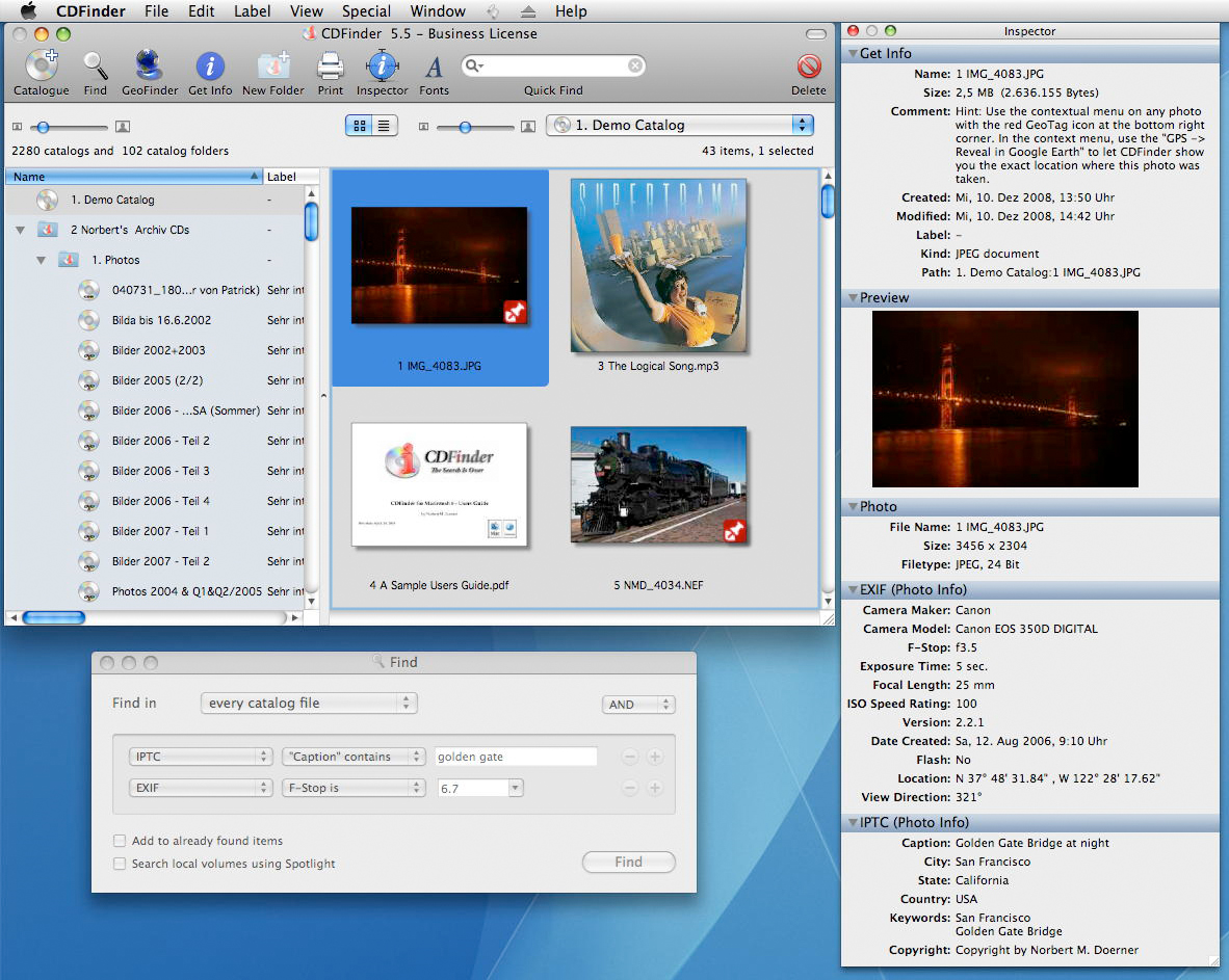 cdfinder cataloging software download for mac