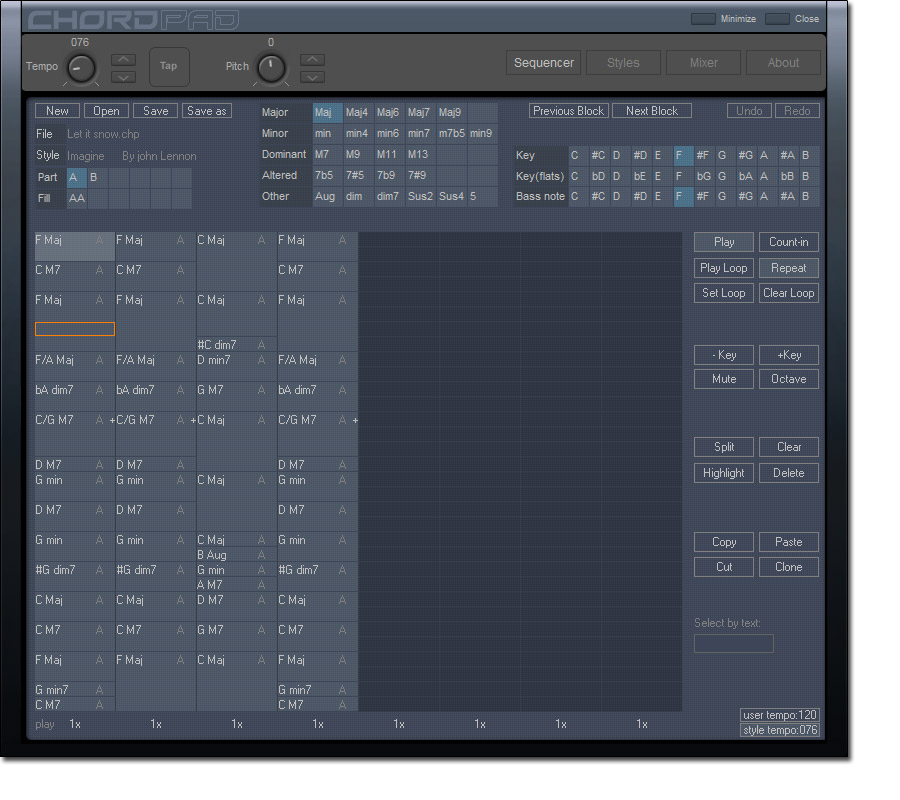 Chord Pad, Audio Software Screenshot