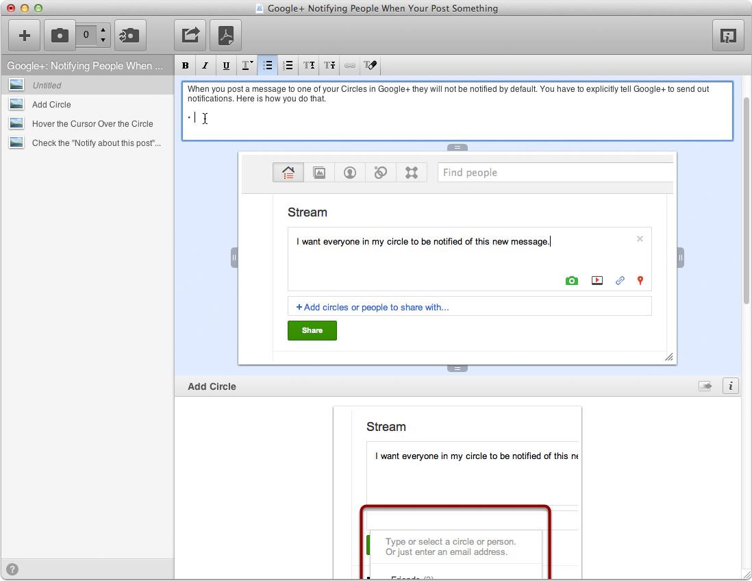Clarify, Screenshot Software Screenshot