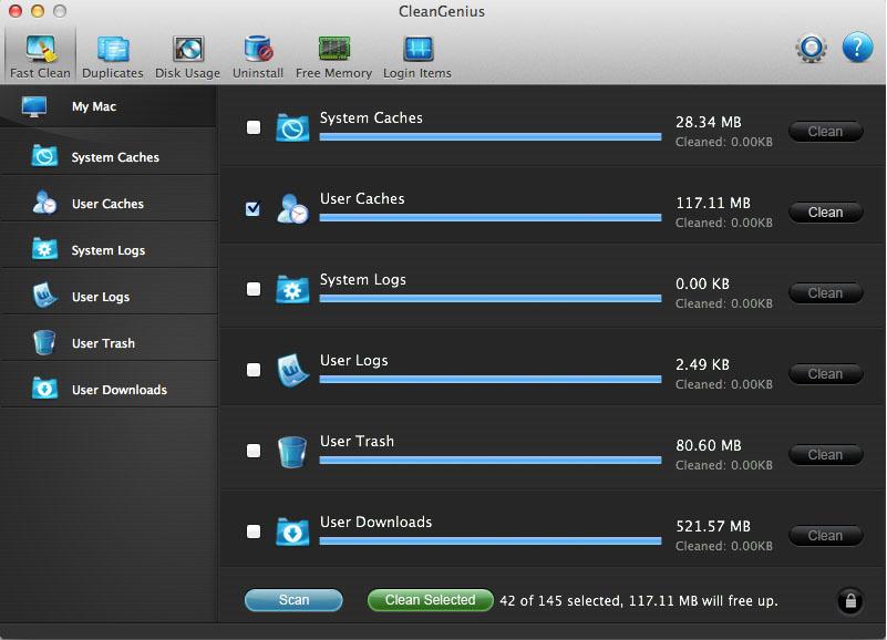 CleanGenius Screenshot