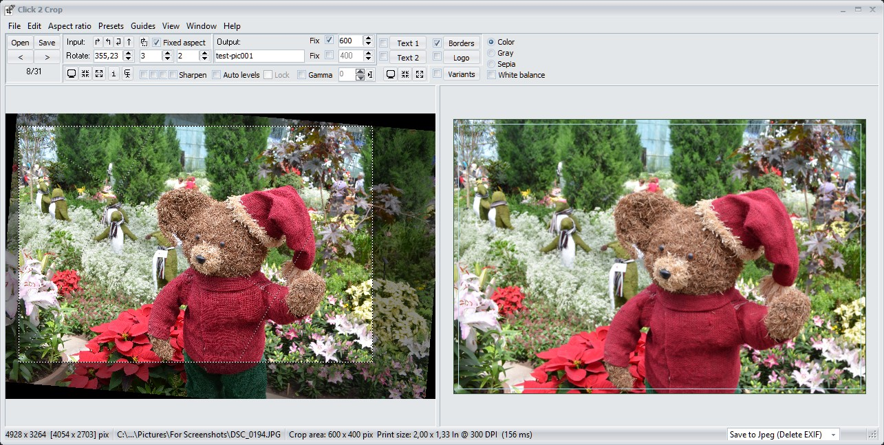 Click 2 Crop (free version) download for PC