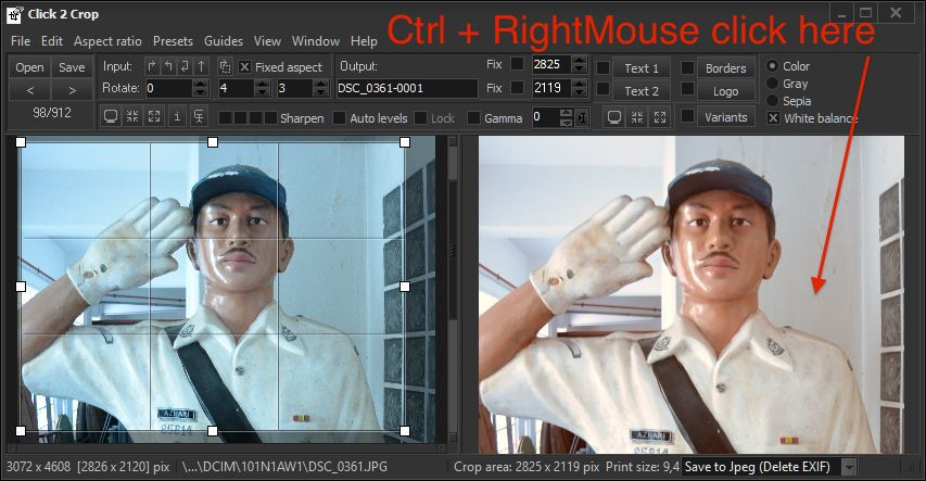 Click 2 Crop, Design, Photo & Graphics Software Screenshot