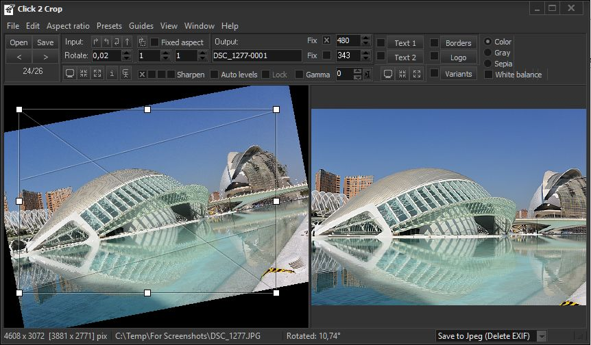Click 2 Crop Screenshot