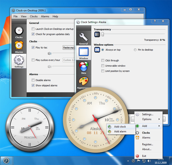 Clock-on-Desktop Screenshot