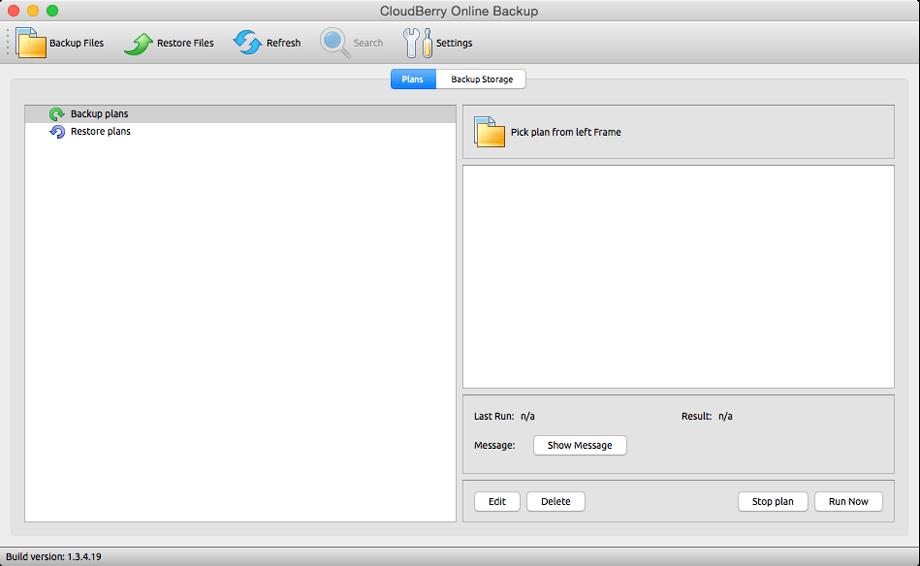 Cloudberry Backup for Mac Screenshot