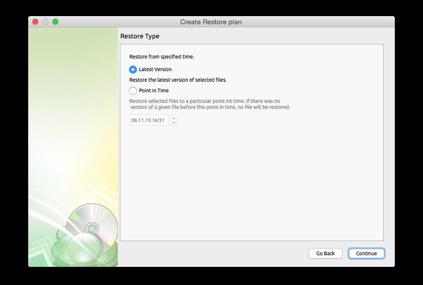 Security Software, Cloudberry Backup for Mac Screenshot