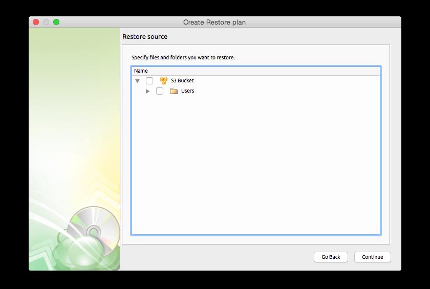 Backup Cloud Software, Cloudberry Backup for Mac Screenshot