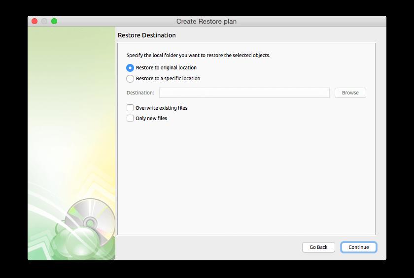Cloudberry Backup for Mac, Security Software, Backup Cloud Software Screenshot
