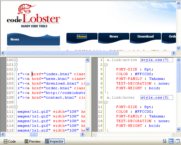 HTML Editor Software Screenshot