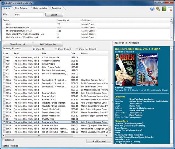 Other Utilities Software, Collectorz.com à la carte! Screenshot
