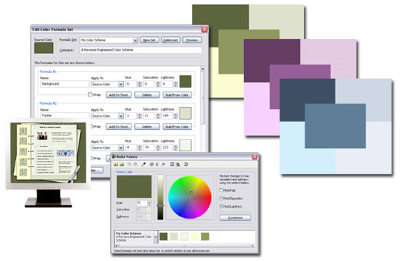 Color Selection Software, ColorCache Screenshot