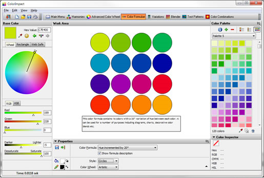 ColorImpact, Color Selection Software Screenshot
