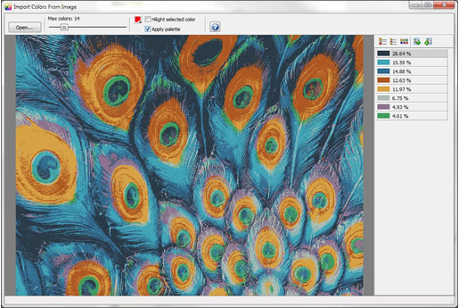 Color Selection Software, ColorImpact Screenshot