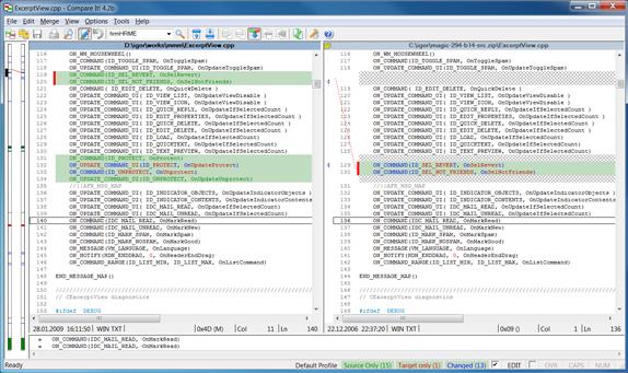 Software Utilities, Compare It! Screenshot