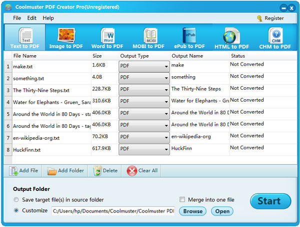 Coolmuster PDF Creator Pro Screenshot