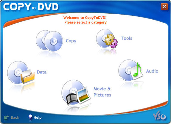 CopyToDVD Screenshot