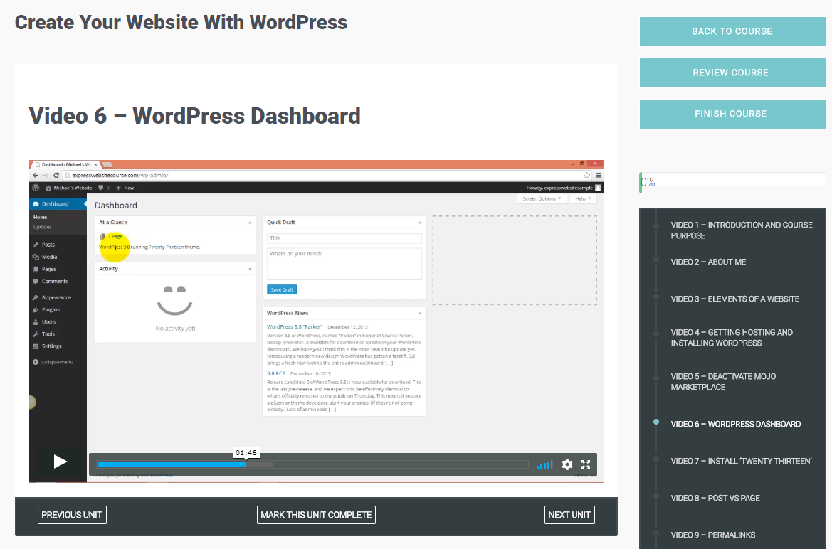 Create Your Membership Website with WordPress Screenshot
