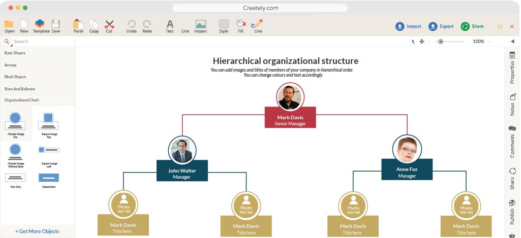 Creately Desktop, Vector Drawing Software Screenshot