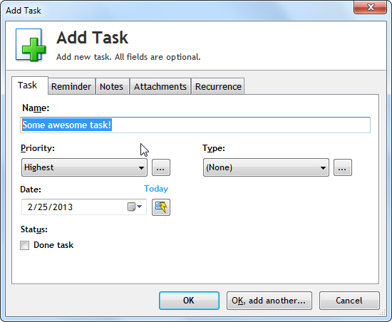 To-Do List Software Screenshot