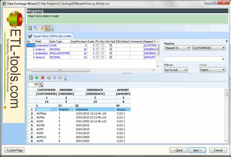 Data Exchange Wizard Screenshot