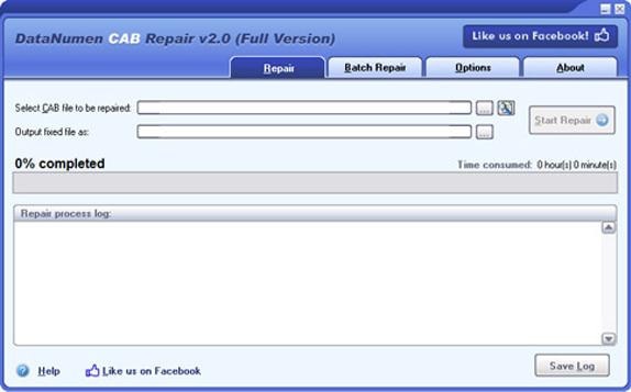 DataNumen CAB Repair Screenshot