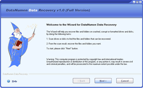 DataNumen Data Recovery Screenshot