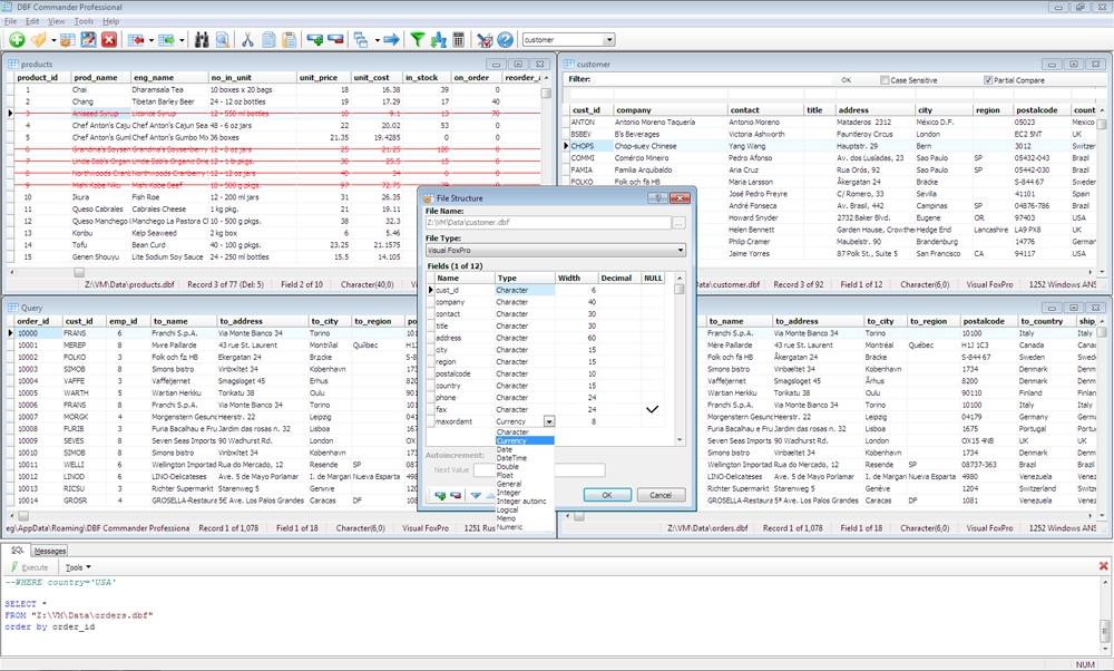 DBF Commander Professional Screenshot